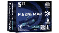 Federal Ammo Syntech Defense 45 ACP 205 Grain Segm