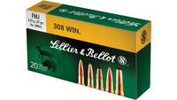 Sellier & Bellot Ammo Training 308 Winchester FMJ