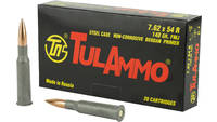 Tula Ammo 7.62x54mm Russian FMJ 148 Grain 20 Round